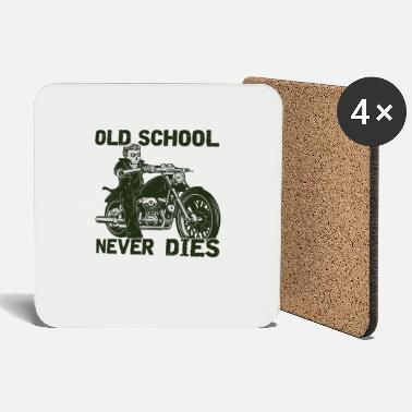 Old School Never Dies Motocycliste Chopper - Dessous de verre