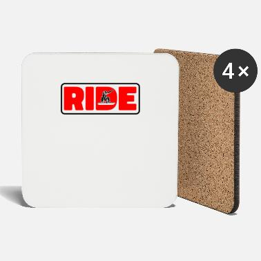 Skiing Ride snowboard gift - Coasters