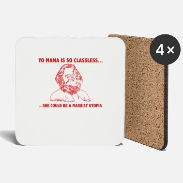 East Germany Communism Karl Marx funny saying - Coasters