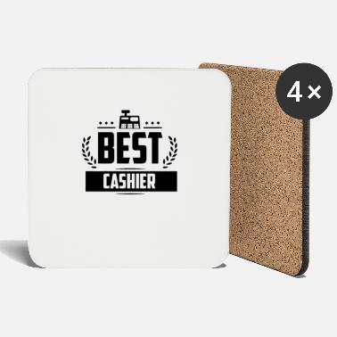 Checkout Cashier Cashier Checkout Receipt - Coasters