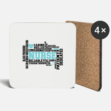 Sanitary Medical Nurse Sanitary Art Words - Coasters