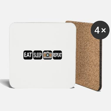 EAT SLEEP Photo REPEAT cool camera design - Coasters