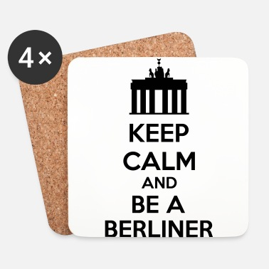 Keep Calm Keep Calm And Be A Berliner - Lasinalustat (4 kpl:n setti)