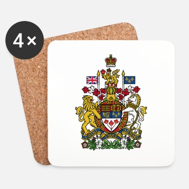 Itä National Coat of Arms of Canada - Lasinalustat (4 kpl:n setti)