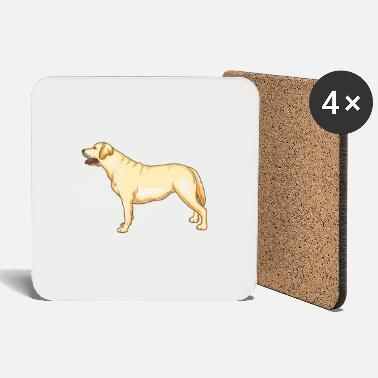 German Shepherd Labrador retriever dog - Coasters