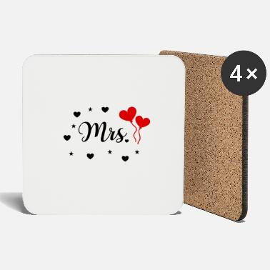 Sposarsi Mr. & Mrs. Just Married design sposa sposa - Sottobicchieri