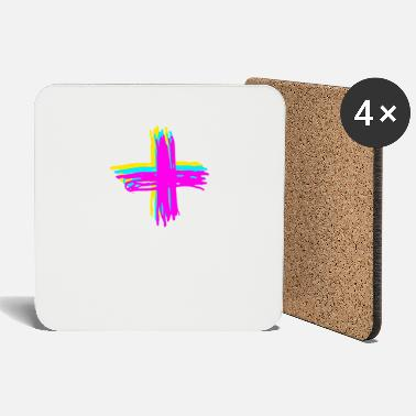 Plus Plus sign - Coasters