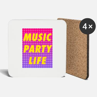 Party MUSIC PARTY LIFE - Coasters