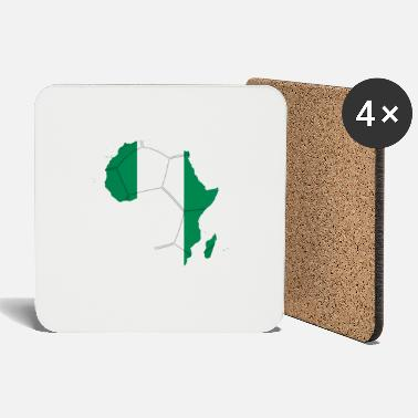 african_soccer_flag_of_nigeria - Coasters