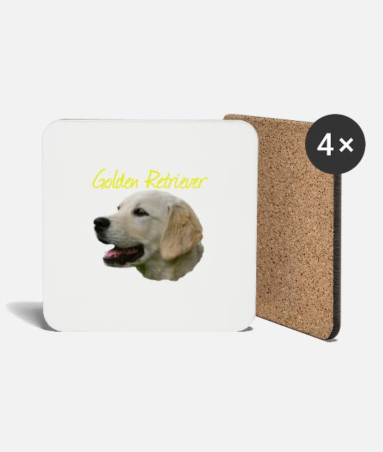 Obedience Mugs & Drinkware - Golden Retriever, Retriever, Dog , Dog Sport, - Coasters white