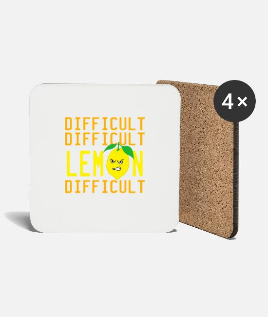 "Mad Mugs & Drinkware - A Nice Quote Tee For You ""Difficult Difficult - Coasters white"
