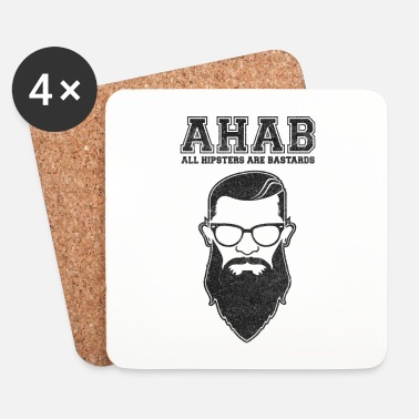 Boarder ALL HIPSTERS ARE BASTARDS - Funny Parody  - Underlägg (4-pack)
