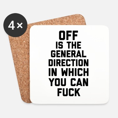 Fuck You General Direction Funny Quote - Onderzetters (4 stuks)