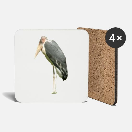 Congo Mugs & Drinkware - stork - Coasters white