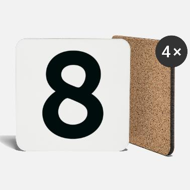Number Sport Number 8 Eight - Coasters