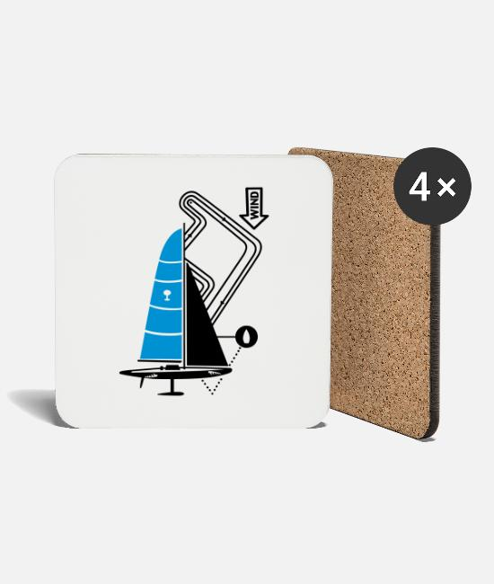 Water Mugs & Drinkware - technical sailing yacht no.3 the sportive - Coasters white