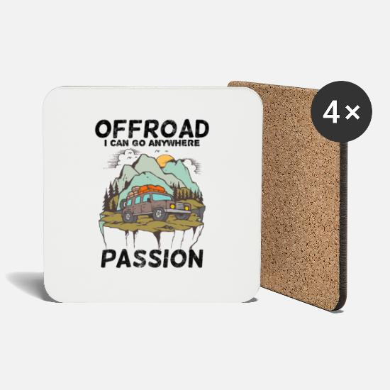 Gift Idea Mugs & Drinkware - Offroad Passion - Coasters white