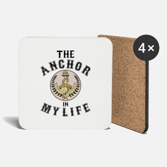 "Skipper Tassen & Becher - Anker ""The Anchor in my life"" - Untersetzer Weiß"