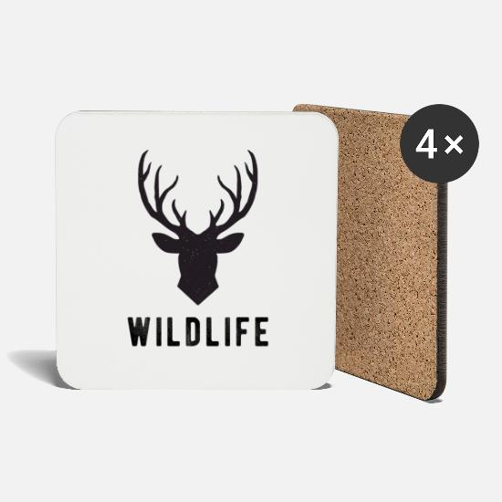 Gift Idea Mugs & Drinkware - Wild life - Coasters white