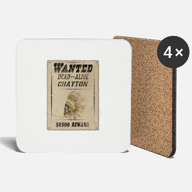 Reward Indians wanted, reward, gift - Coasters