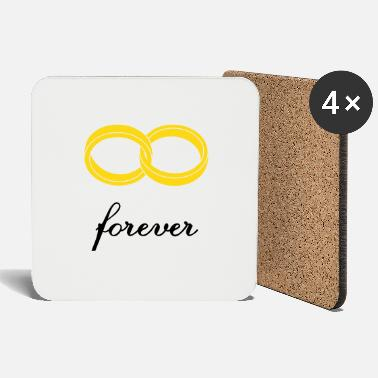 Marriage wedding rings forever - Coasters