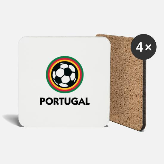 Soccer Mugs & Drinkware - Portugal Football Emblem - Coasters white