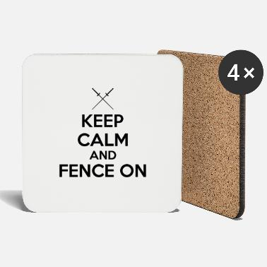 Keep calm and fence on - Coasters
