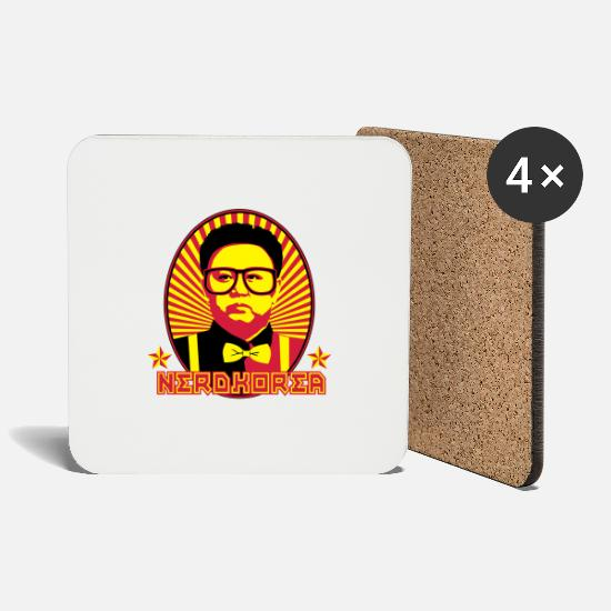 Glasses Mugs & Drinkware - Nerdkorea - Coasters white