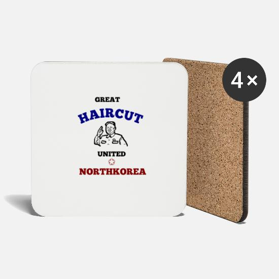 Gift Idea Mugs & Drinkware - NORTH KOREA NORTH KOREA KIM JONG UN T-SHIRT - Coasters white
