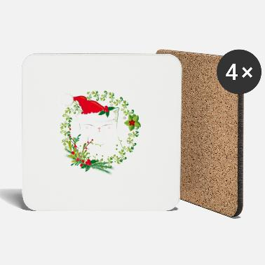 Christmas Christmas cat - Coasters