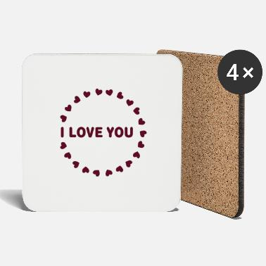 You cœurs I LOVE YOU - Dessous de verre