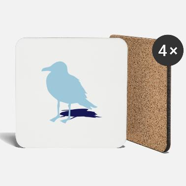Harbour seagull gull bird harbour sailing ocean sea ship - Coasters
