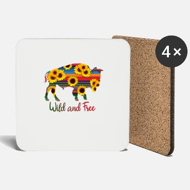 Wild and Free Bison Rainbow - Coasters
