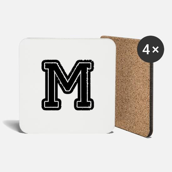 Symbol  Mugs & Drinkware - letter M - Coasters white