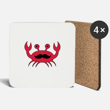 Lobster Crab with mustache - Coasters