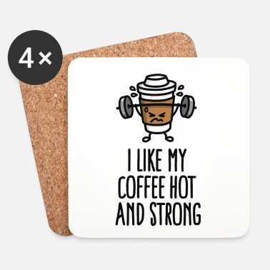 Muscoli I like my coffee hot and strong - Sottobicchieri (set da 4 pezzi)