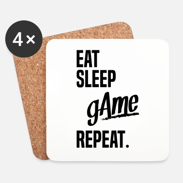 Game Over EAT SLEEP GAME - Onderzetters (4 stuks)