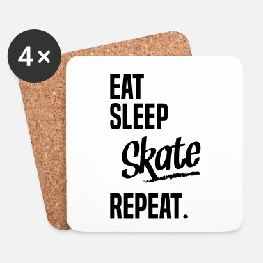 Skater EAT SLEEP SKATE - Dessous de verre (lot de 4)