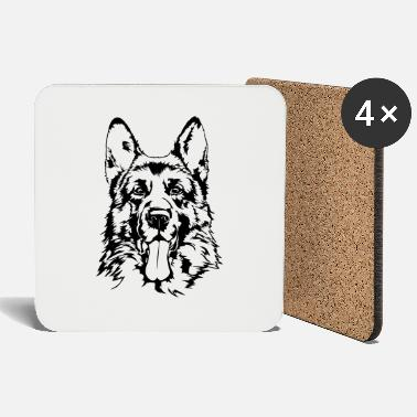 German Shepherd GERMAN SHEPHERD - GERMAN SHEPHERD Wilsigns - Coasters