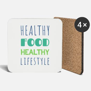 Healthy Healthy food healthy lifestyle - Coasters