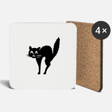 Afraid Afraid Cat - Coasters