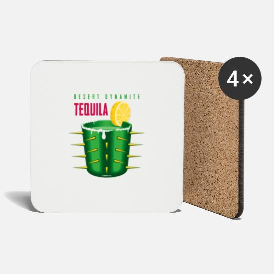 Party Mukit ja tarvikkeet - 06-17 Tequila Sunrise, Tex-mex Textiles and Gifts - Lasinalustat valkoinen