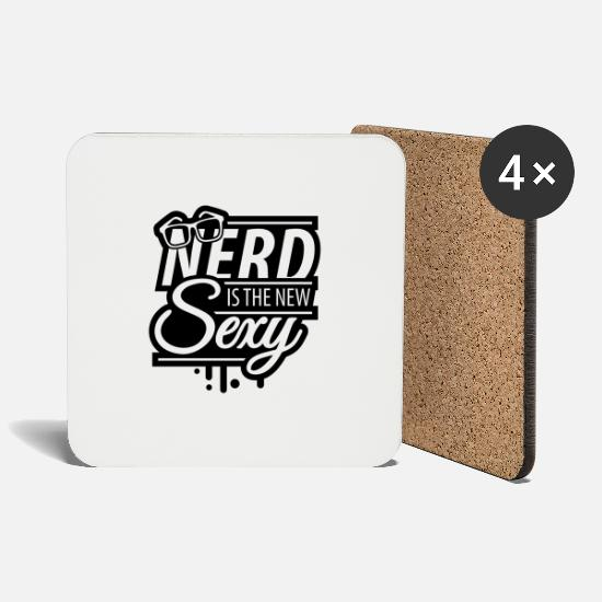 Glasses Mugs & Drinkware - nerd_is_the_new_sexy_1_f1 - Coasters white