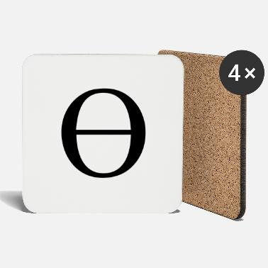 Lowercase Greek Symbol - Lowercase Theta - Coasters