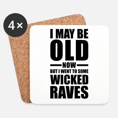 Rave Wicked Raves EDM Quote - Dessous de verre (lot de 4)