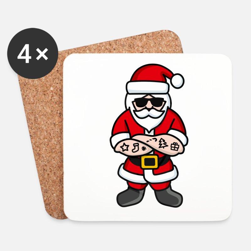 Cool Hipster Rocker Weihnachten Weihnachtsmann von laundryfactory.de ...