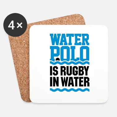 Nager Water polo is rugby in water water-polo natation - Dessous de verre (lot de 4)