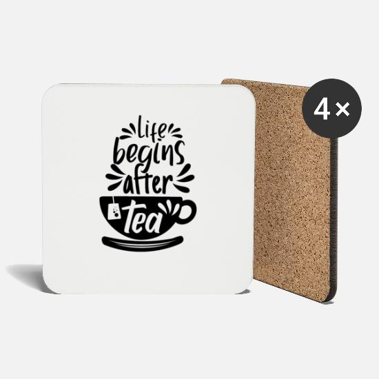 Tea Mugs & Drinkware - tea - Coasters white