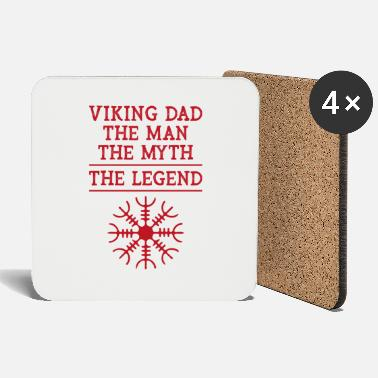 Norwegen Viking dad the man the myth the legend Geschenk - Untersetzer