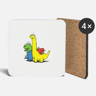 Dino Gang, Colored - Coasters